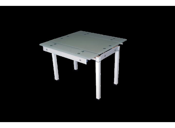Стеклянный стол на кухню B-07В бежевый без цветов main