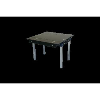 Стеклянный стол на кухню B-07 черный без цветов