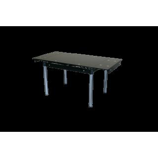 Стеклянный стол на кухню B-08-118 Черный без цветов