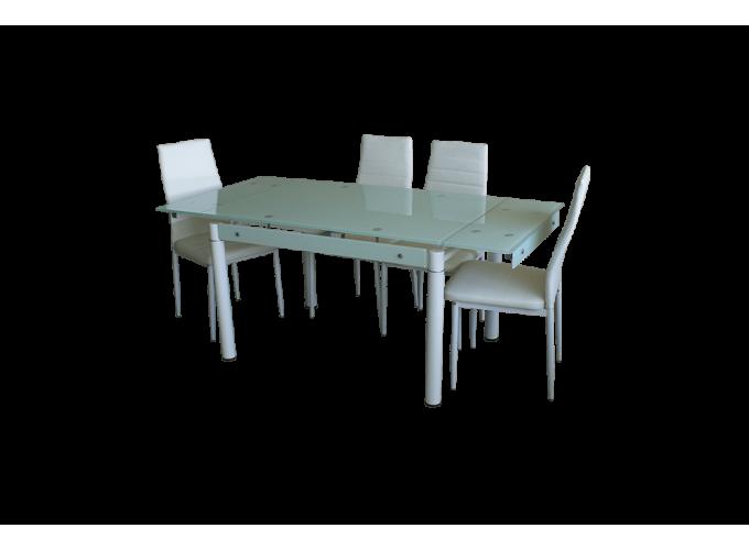 Стол B-08-118В Белый без цветов 1