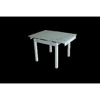 Стеклянный кухонный стол B-08-758В Бежевый