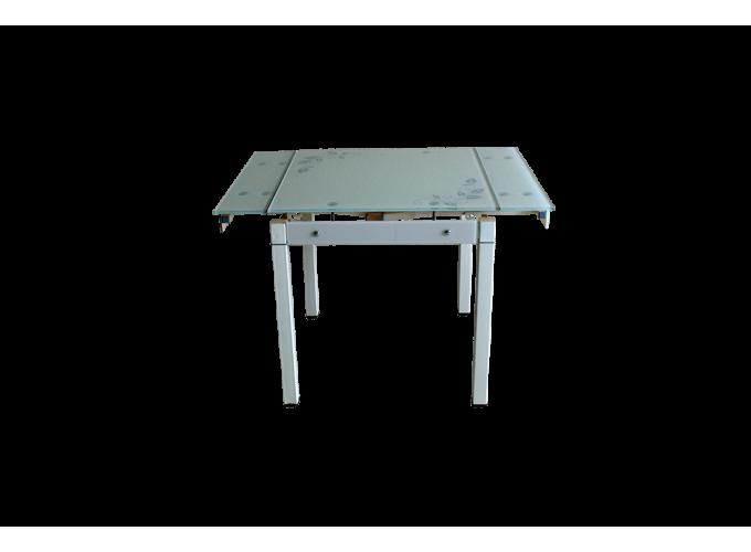 Стеклянный кухонный стол B-08-758В Бежевый 2