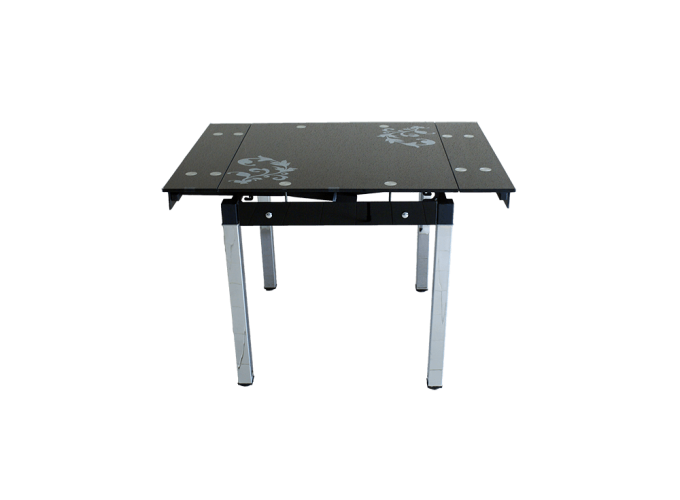 Стеклянный кухонный стол B-08-758 Черный 2