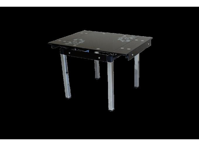 Стеклянный кухонный стол B-08-758 Черный