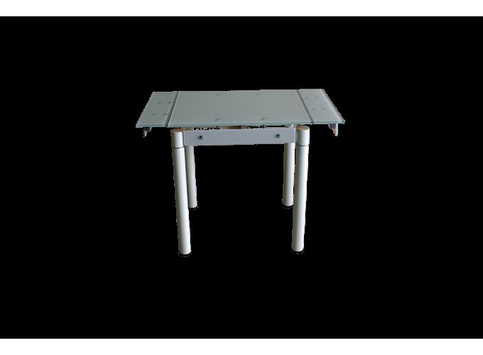 Стеклянный кухонный стол B-08-76В бежевый без цветов 0
