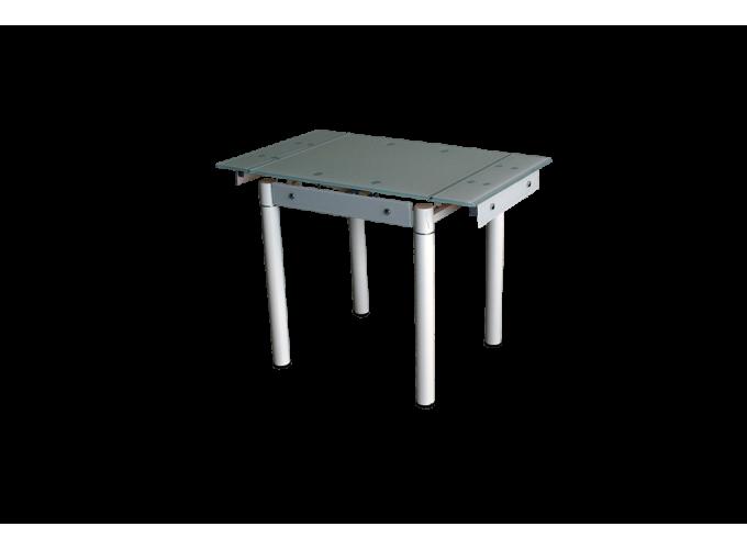 Стеклянный кухонный стол B-08-76В бежевый без цветов