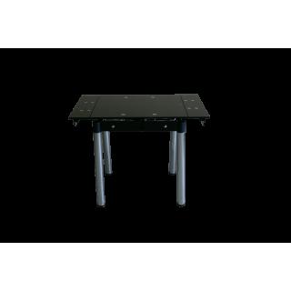 Стеклянный кухонный стол B-08-76 черный без цветов