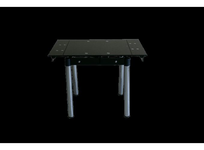 Стеклянный кухонный стол B-08-76 черный без цветов main