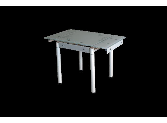 Стеклянный кухонный стол B-08-77В бежевый main
