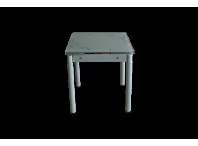 Стеклянный кухонный стол B-08-77В бежевый 2
