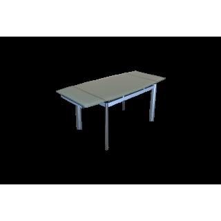 Стеклянный кухонный стол В100-128 Бежевый