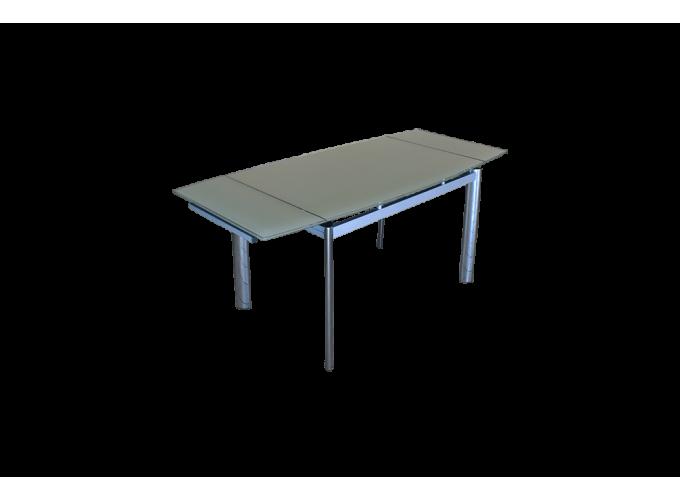 Стеклянный кухонный стол  В100-128 Бежевый main