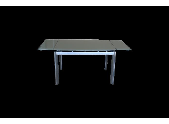 Стеклянный кухонный стол  В100-128 Бежевый 2
