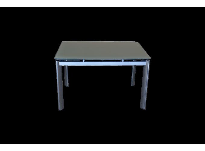 Стеклянный кухонный стол  В100-128 Бежевый 0