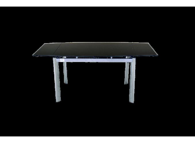 Стеклянный обеденный стол  В100-128 Черный 2