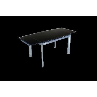 Стеклянный обеденный стол В100-128 Черный