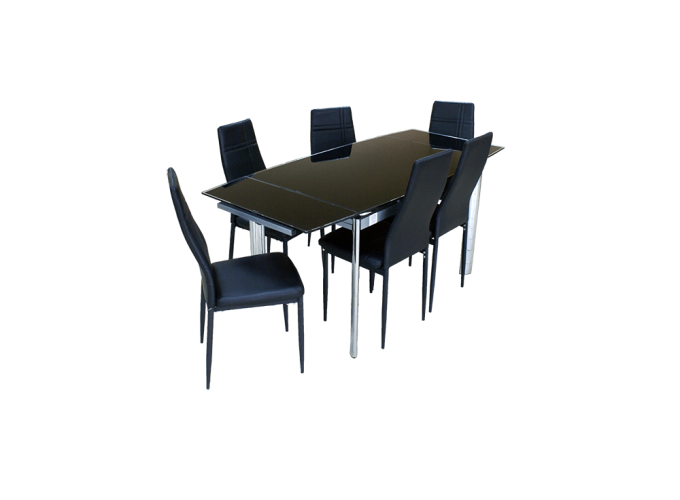Стол кухонный  В100-128 Черный 1