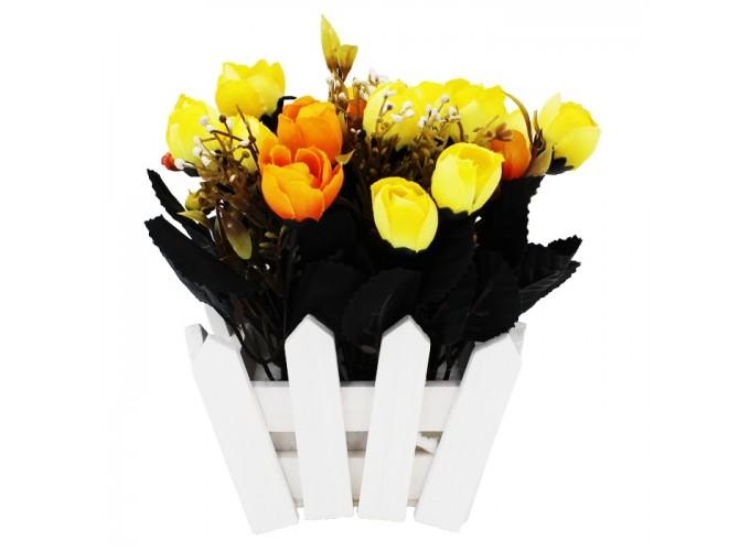 Цветы искусственные в горшке  Арт. AB030022 (клумба)