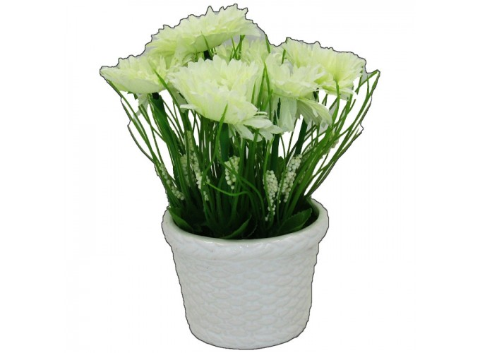 Цветы искусственные в горшке  из полимерных материалов Арт.L1720