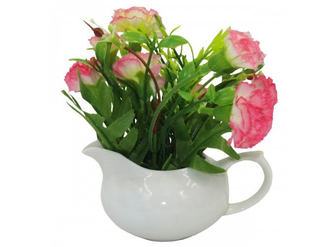 Цветы искусственные в горшке из полим.матер.  Арт. ZC-002 (в прозрачной упаковке)