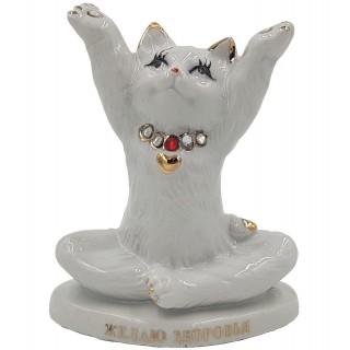 Статуэтка из фарфора  Арт.F2178A (кот)