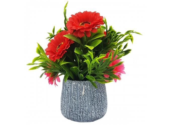 Цветы искусственные в горшке  из полимерных материалов Арт.T003