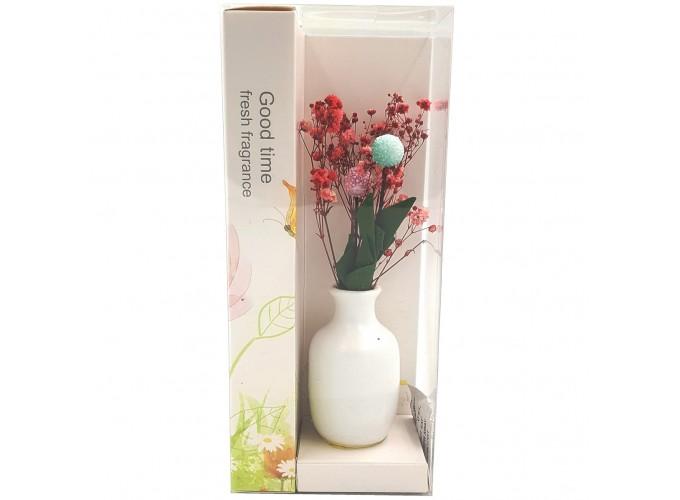 Цветы искусственные в вазочке из полимерных материалов  Арт.XH192A