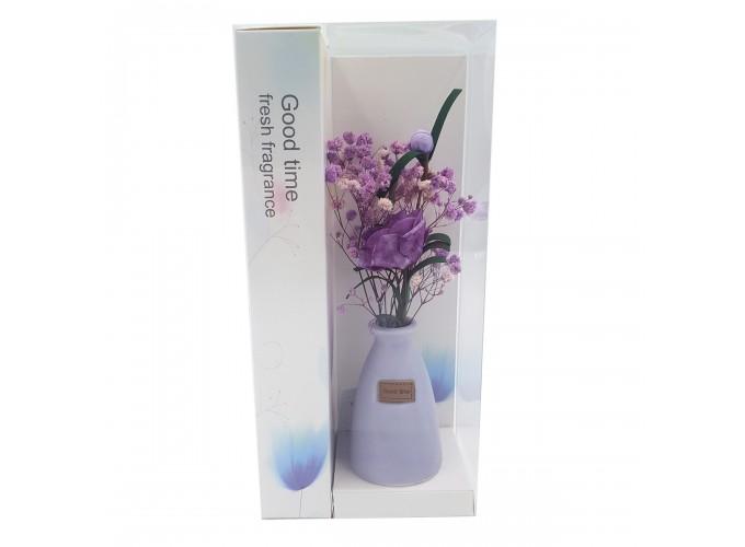 Цветы искусственные в вазочке из полимерных материалов  Арт.XH202