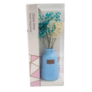 Цветы искусственные в вазочке из полимерных материалов  Арт.XH195