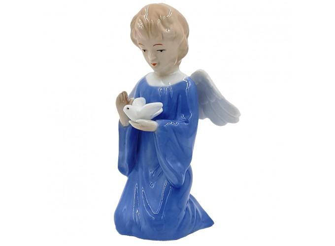 Статуэтка декоративная из фарфора  Арт.P542 (ангел с голубем)