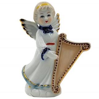 Статуэтка декоративная из фарфора  Арт.14072-14679 (ангел с арфой)