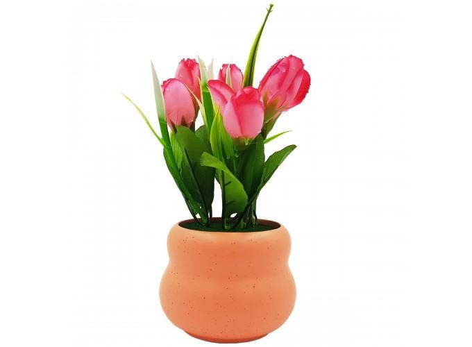 Цветы искусственные в горшке  из полимерных материалов Арт.В0194