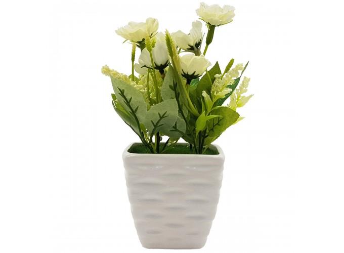 Цветы искусственные в горшке  из полимерных материалов Арт.A0192