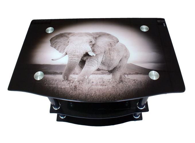 Стеклянная подставка под телевизор и аппаратуру TV114 2