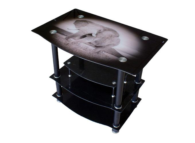 Стеклянная подставка под телевизор и аппаратуру TV114 0